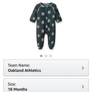 Oakland A's Sleeper Genuine Merchandise 18M
